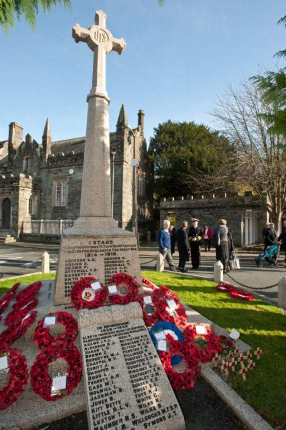 Memorial service in Tavistock to commemorate 35th anniversary of Falklands War