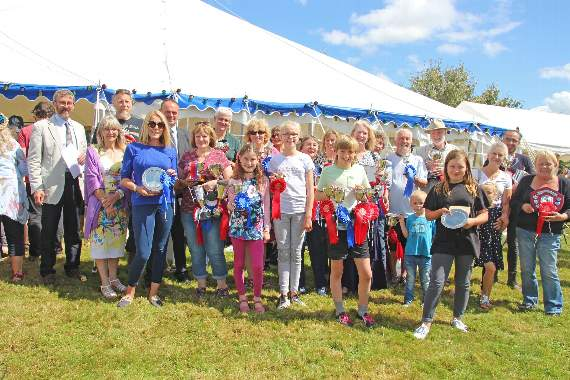 Record number of entries at village flower show