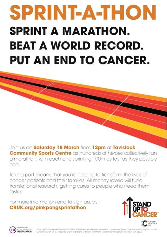Tavistock College to host 'Sprintathon' world record attempt for Cancer Research UK