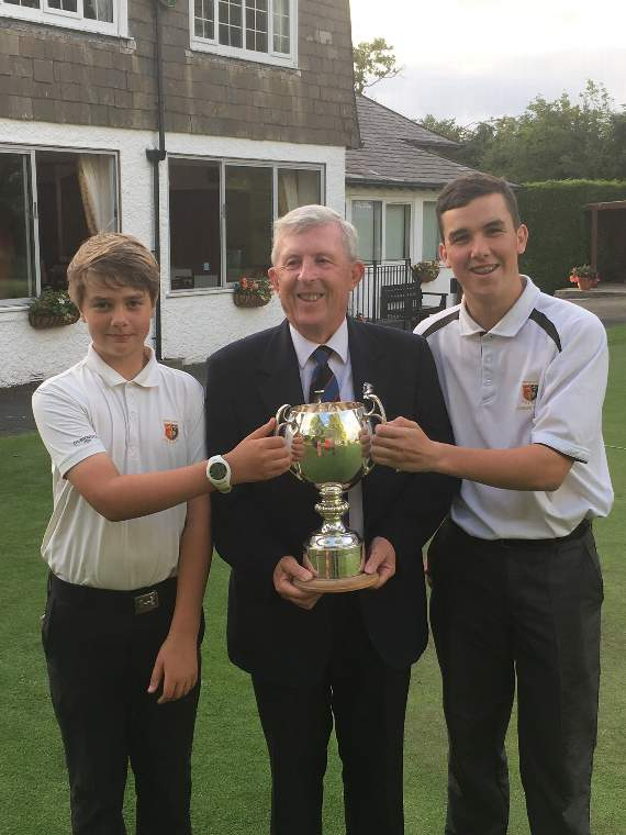 Late invitation leads to golfing glory for Jamie and Tom in Devon cup